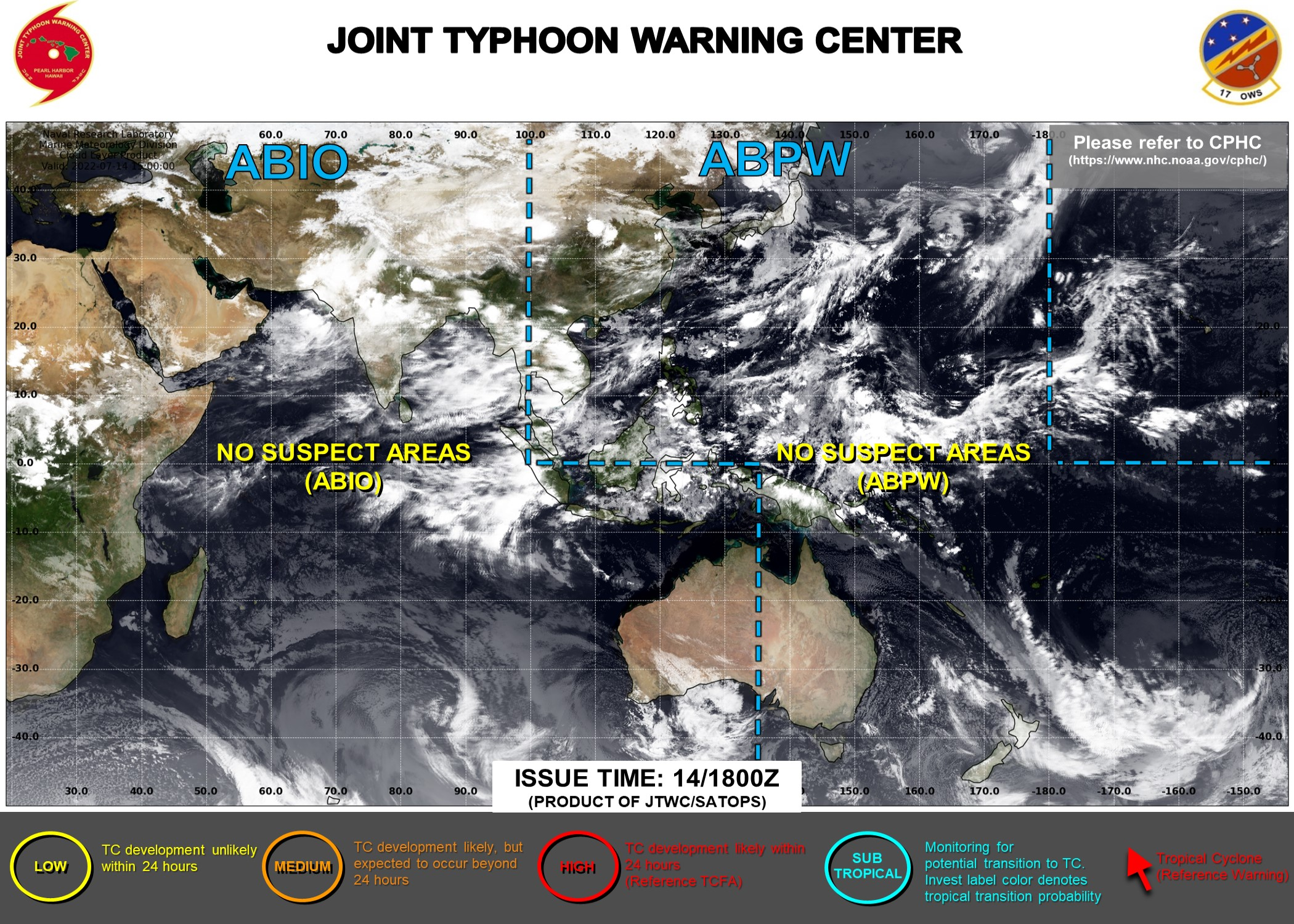 Indian Ocean Tropical Weather Outlook from the JTWC
